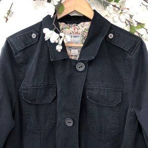 Old Navy Distressed Black Utility Jacket - XXL